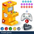 Stock Vector: Arcade games