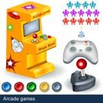 Arcade games — Stock Vector