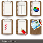 Clipboard icons 1 — Stock Vector