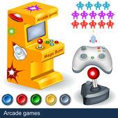 аркадные игры — Cтоковый вектор