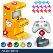 Arcade games — Vector de stock