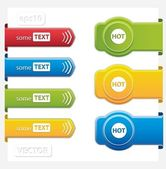 Set of paper tags — Stock Vector