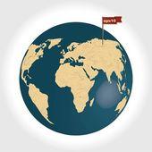 3d planète Terre — Vecteur