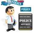 Stock Vector: Cartoon police Officer