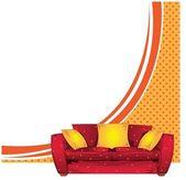 Sofa vector background — Stock Vector