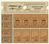 Billetes antiguos — Vector de stock