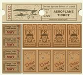 Vintage Tickets — Vetorial Stock
