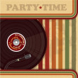 Stock Vector: Vintage DJ poster or flyer