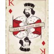 Vintage king of diamonds, playing card — Stock Vector #9539820