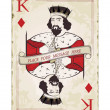Stock Vector: Vintage king of diamonds, playing card