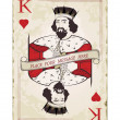 Vintage king of hearts, playing card — Stock Vector #9539865