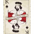 Vintage king of spades, playing card — Stock Vector #9539887