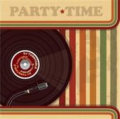 Vintage DJ poster or flyer — Stock Vector