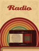 Cartel radio - banner — Vector de stock