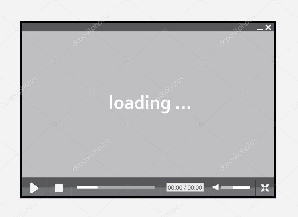 Video player for web — Stock Vector © cvijun #9823828