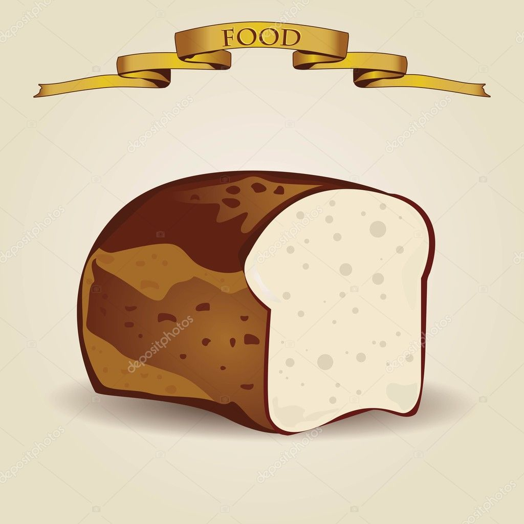 Vintage bread illustration - vector — Stock Vector #9938048