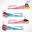Stock Vector: Cake banners