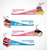 Cake banners — Stock Vector