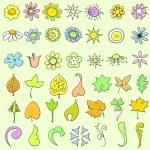 Doodle flowers set — Stock Vector #8389452