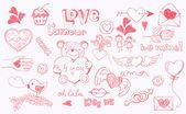 Doodle love — Stock Vector