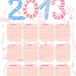 Cute 2013 calendar — Stock Vector