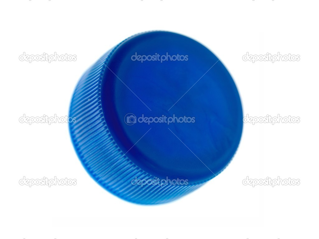 Plastic bottle caps isolated against a white background — Stock Photo #9234738