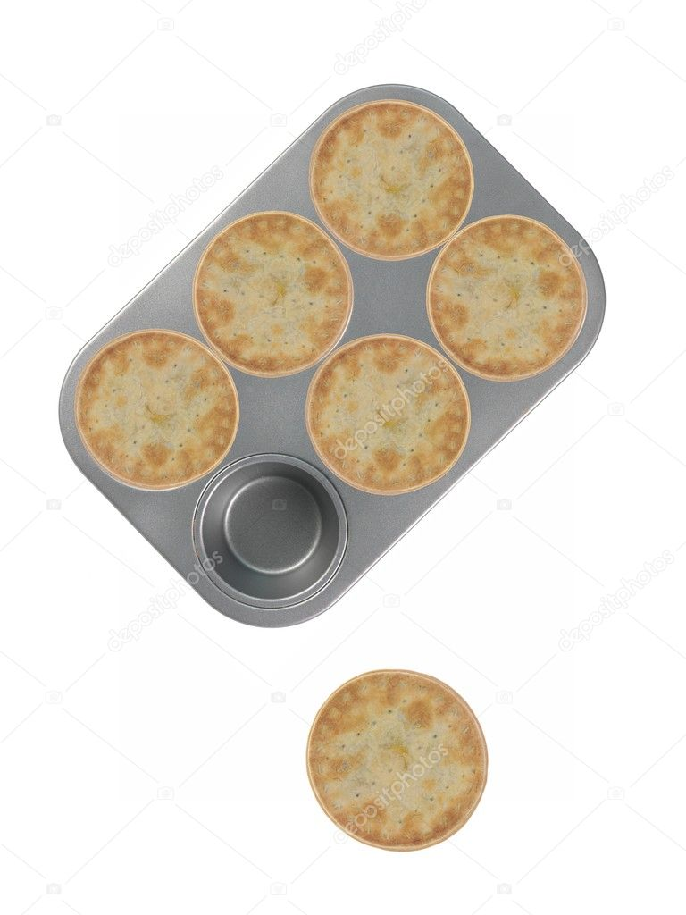 Meat pies isolated against a white background  Stock Photo #9470959