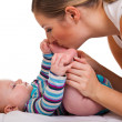 Mother with infant girl — Stock Photo #8524576