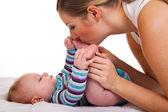 Matka s dětská dívku — Stock fotografie