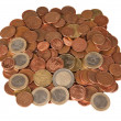 Many euro coins. — Stock Photo