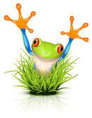 Malá rosnička na trávě — Stock vektor