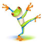 Dancing Tree Frog — Stock Vector