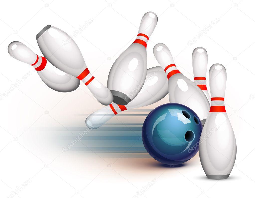 Bowling Ball Crashing Into The
