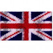 United kingdom flag in floral design - Stock Photo