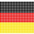 Stock Photo: Germany flag in halftone