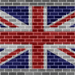 Flag of great britain on gray brickswall - Stock fotografie