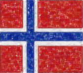 Norway flag in water color — Stock Photo