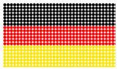 Germany flag in halftone — Stock Photo