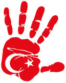 Handprint Turkey — Stock Vector