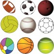 Sports balls collection - Stock Vector