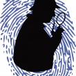 Detective on thumbprint — Stock Vector #10623737
