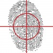 Target unique identity with thumbprint — Stock Vector #10623754