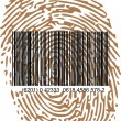 Thumbprint and bar code — Stock Vector #10623768