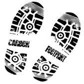 Carbon foot imprint — Stock Vector