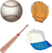 Baseball equipment — Stock Vector