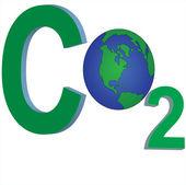 Carbon dioxide global emission — Stock Vector