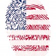 Thumbprint Flag Colors of United States of America — Stock Vector #9922663