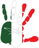 Handprint for italy — Stock Vector