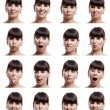 Multiple expressions - Stok fotoraf