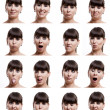 Multiple expressions - Foto Stock